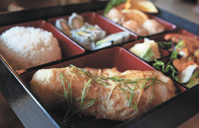 Bento Box with Chilean Sea Bass